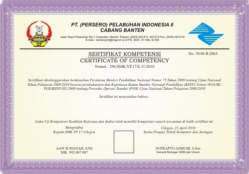 Sertifikat Uji Kompetensi Harun Alrasyid